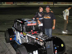 Reed and his father Dave are all smiles after winning the Hard Charger Award
