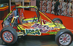 ARC4 Racing Vehicle in K&N Booth at Autosport International 2009