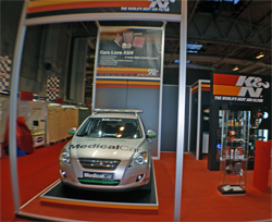 KIA Medical Vehicle at K&N Booth at the National Exhibition Center in Birmingham, United Kingdom