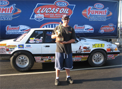 Rick Baehr drove a 1988 Ford Mustang to a final round win at the Summit Racing Equipment Nationals