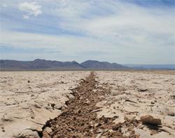 Scorching sands of Laguna Salada on the Baja 500 route, photo by Nick Socha