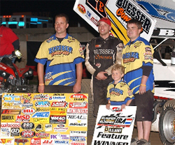 Alaskan native Bill Balog drove from 12th place to 1st place in the Dick Witt Checkered Classic for the win in Dodge County, Wisconsin, photo by McKay's Digital Images