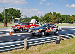 Plymouth Volare at the starting line on the IHRA Division 1 Summit Pro-Am Tour