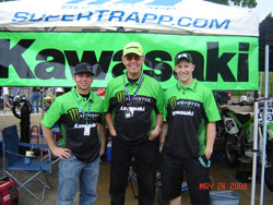 Bill Werner receives support from Kawasaki for his racing activities