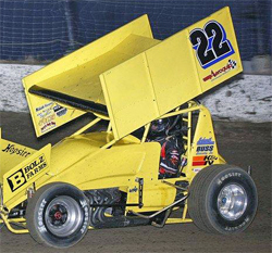 Billy Alley has his first win of the season at the I-80 Speedway in Greenwood, Nebraska