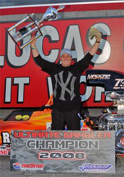 Ultimate Gambler Victory for Peter Biondo at The Strip at Las Vegas Motor Speedway
