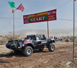 The Best in the Desert Silver State 300 race began in Alamo, Nevada near the Extraterrestrial Highway and Area 51, photo by Mike Aiello