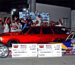 Palm Beach International Raceway in Florida held the money ticket for Luke Bogacki who drove a Malibu Station Wagon to victory, courtesy of BME Photography