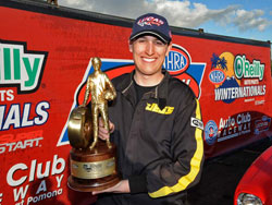 2012 NHRA Winternationals Stock Eliminator Champion Brad Burton