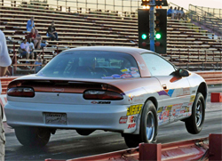 1994 Camaro with its 350 cubic inch Chevy Lt1 motor at NHRA Nationals at Virginia Motorsports Park in Richmond