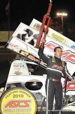 Brian Brown in Victory Lane at Battleground Speedway