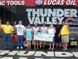 Rick Baehr also raced to a $10,000 payday at World Footbrake Challenge III in Bristol, Tennessee, photo by Angela Macy