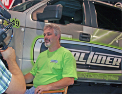 DualLiner General Manager Bryndon O'Hara at SEMA in Las Vegas, Nevada