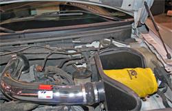K&N air intake 77-2556KP on O'Hara's 2005 Ford F-150 with a 5.4 liter engine