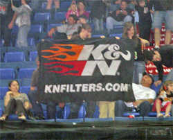 K&N Ford Powered Black Stallion Flag goes to a lucky fan in Canada