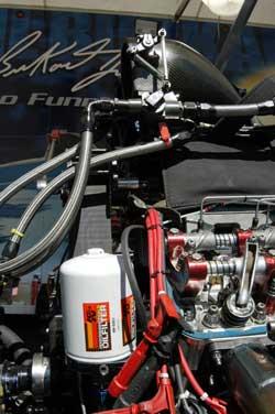 Funny Car Racer Phil Burkart uses K&N Performance Gold Oil Filters