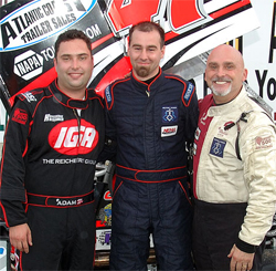 Randy Cabral (center) is the points leader in the NEMA Series and in 7th position in the NEMA all time win list