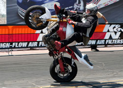 K&N supports stunt riders like Randy Callicoat who finished 13th in XDL round 3