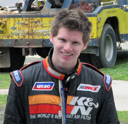 Ford Focus Midget racer and K&N sponsored driver Cody Swanson hopes to secure 2nd place in year end points in Ventura, California
