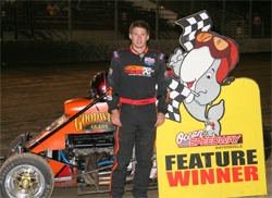 K&N Sponsored racer was victorious in USAC Ford Focus Midget Series race at Ocean Speedway in California