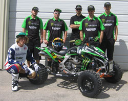 Cody Gibson and the Walsh Race Craft crew.