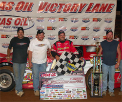 Winner's Circle Prize of $10,000 went to K&N supported racer Ray Cook at Bluegrass Speedway in Kentucky, photo by Rick Schwallie