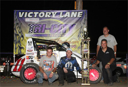 The USAC National/POWRi co-sanctioned event paid $15,000 to Coons