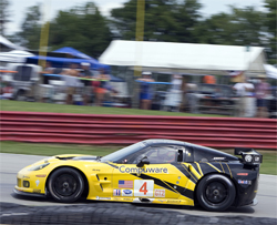 No.4 Compuware Corvette in hard fought GT2 category in the sixth round of the American Le Mans Series, photo by GM Corp.