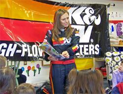 Caitlin Shaw in the classroom at Sandia Presbyterian Preschool in Albuquerque, New Mexico
