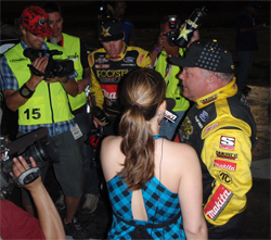 Curt LeDuc of Roackstar Makita Team LeDuc in the Winner's Circle at the Texas World Speedway in Ft. Worth
