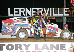 Victory Lane for Del Rougeux of Frenchville, Pennsylvania, photo by Stivanson Photos