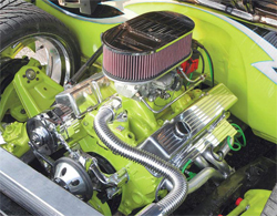 K&N custom air filter assembly and 383 stroker motor built by G-Force Motorsports