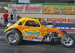 1948 Modified Fiat named the Dinosaur is powered by a supercharged small block Chevy motor