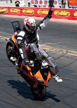 Stunt Rider Bill Dixon wins the Individual Freestyle contest at XDL Round 3