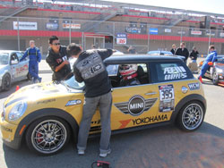 Eddie Kim and his crew prep their JCW MINI for the Redline Time Attack Finals