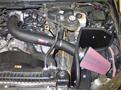 57-2570 K&N air intake system installed in 2005 Ford F-250