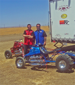 Father and son Sand Drag Racing team in Avenal, California