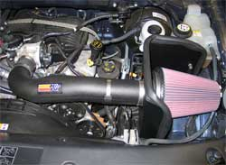 Ford F-150 with K&N air intake 57-2572 installed