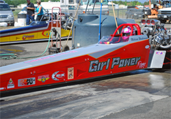 Girl Power dragster makes a reliable 1,000 or so horsepower at races in the Nor Cal Top Association Series