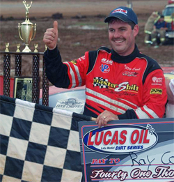 Late Model Dirt Series Racer Ray Cook Won 41st Annual Hillbilly Hundred, photo by Todd Turner