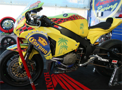 Corona Extra Honda Racing's Honda CBR 1000RR equipped with K&N air and oil filters