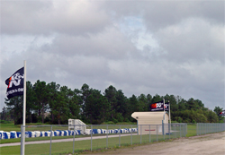 The European Rally School and Motorsports Park flies K&N flags all over its facility