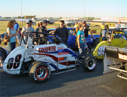No.88 Ford Focus Midget driven to a 3rd place finish by teen Jake Swanson of Anaheim, California