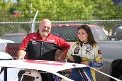 16-year-old Jessica Brunelli is the youngest Rookie of the Year ever in NASCAR American Modified series