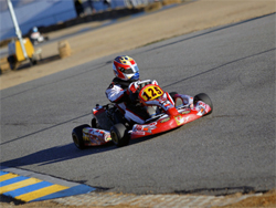 High Desert California karting track hosted the 45th annual California State Championship, an International Karting Federation event, photo by Sean Buur of go racing magazine