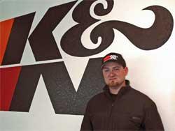 Vaughn Gittin Jr. at K&N Engineering Headquarters