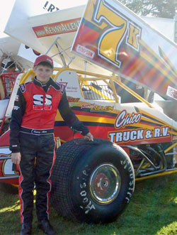 Teen Racer Kenny Allen holds his own against some of the biggest names in Sprint Car action