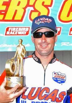 Aaron Kinard won Super Comp at Firebird Raceway near Boise, Idaho, photo by Rich Carlson Photography