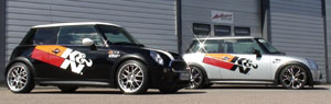 Aaltonen Motorsport's Mini Cooper S JCW equipped with K&N air intake