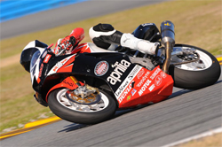 Top Ten Finish in the Daytona 200 for the Factory Aprilia Millennium Technologies Team